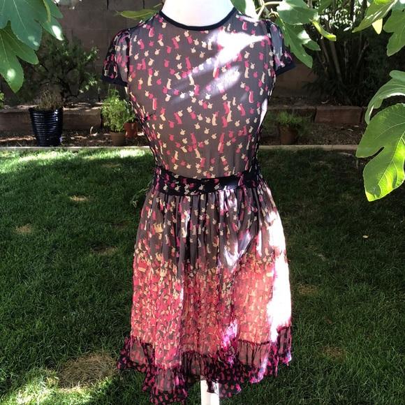 Valentino Dresses & Skirts - VALENTINO Bunny Print Silk Dress